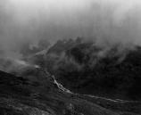 Fog over Col de la Seigne, Mont Blanc