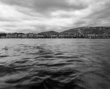 Buildings of Geneva over lake