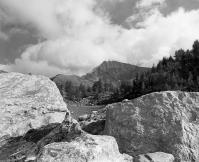 Stones near Col de la Seigne