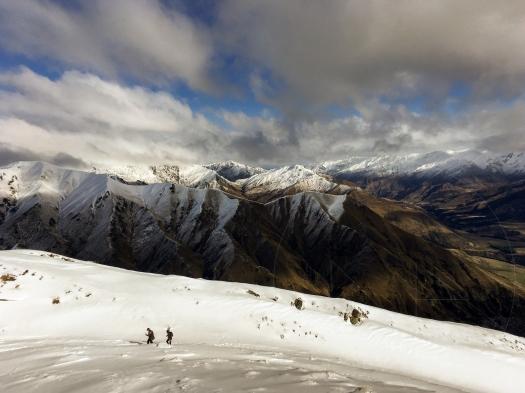 Snowy Finish to Roys Peak